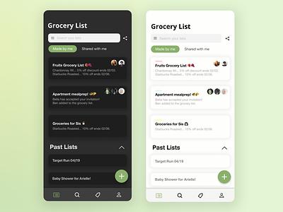 Grocery List App ui design minimal app vector branding art design ux graphic design ui