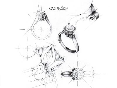 sketch sketch jewelrydesignerarmenia dribble branding cadproof jewelrysketching