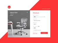Herman Miller Checkout Page (2 Dribbble Invites) dribbble invites aeron chair purchase visa payment concept furniture chairs checkout 02 daily ui