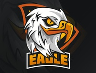 eagle mascot eagle cartoon mascot logo mascot gamers design logo icon designer desain logo logo illustration design