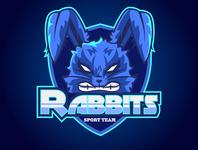 rabbits logo esport rabbit logo rabbits design logo designer icon desain logo logo branding illustration design