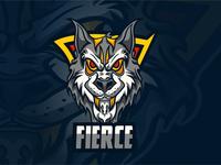 fierce esports logo vector esport design logo icon designer desain logo branding logo illustration design
