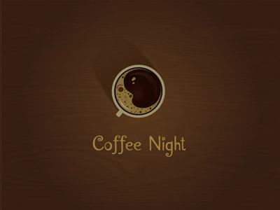 Coffee Night logo coffee night brown warm cafe moon