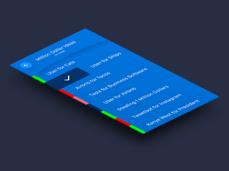To-Do List  ui blue color shadow flat design google apple to-do