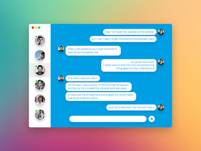 Simple Messaging App osx chat messaging white blue shadow design flat ui