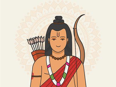 Lord Rama graphic design lord india icon art vector dribbble wallpaper illustration hinduism god hindu worship rama
