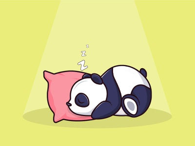 Sleeping Panda logo print cartoon adobe illustrator panda bear sleepy art dribbble icon mascot cute wildlife animal vector graphic design illustration design flat character