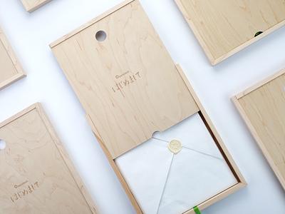 Invitations -  はじめまして origami paper packaging package design