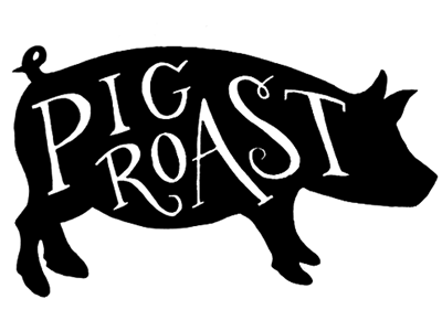 pig roast by amber share dribbble rh dribbble com cartoon pig roast clipart pig roast clip art free