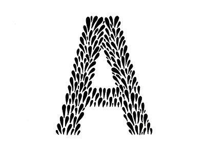 Drop Cap A illustration type custom type lettering typography handlettering