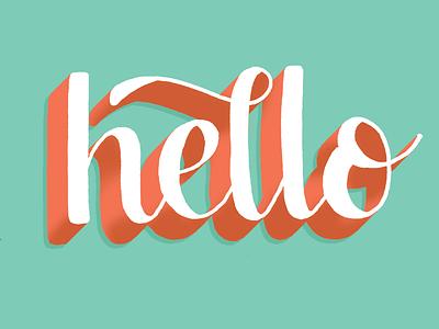 Hello! illustration type custom type lettering typography handlettering