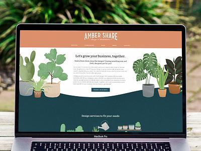 Personal Website Redesign hand lettering web design illustration lettering
