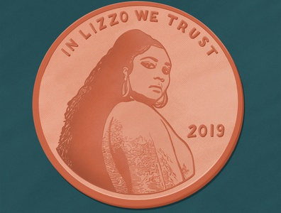 In Lizzo We Trust procreate custom lettering design handlettering hand lettering custom type type typography illustration lettering