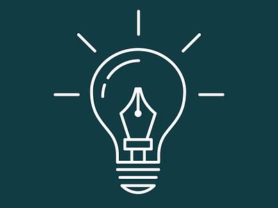 Pen Tool Light Bulb illustrator art illustrator design tshirt illustrator cc pen tool illustrator icon branding vector design logo illustration