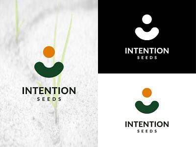Intention Seeds vector typography logo design iconic logo iconic logodesign brand branding logo