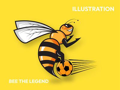 Bee mascot illustration vector logo design logodesign branding brand logo