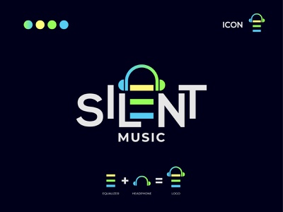 Silent Music typography icon design icon app logo music logo illustration vector design logo design logodesign branding brand logo
