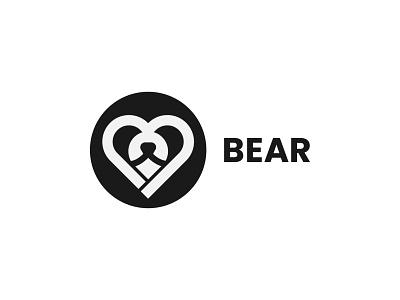 Bear bear love pet care app icon app bear logo bear logodesign illustration vector design logo design branding brand logo