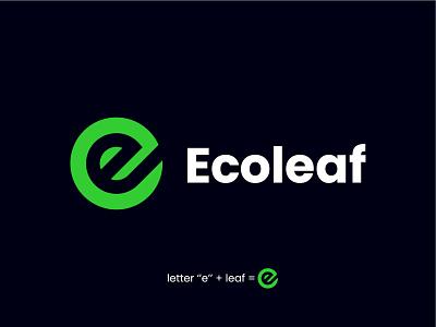 Ecoleaf design alen walker logo design logodesign branding brand logo