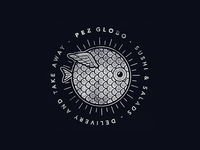 Pez Globo Logo Woodprint