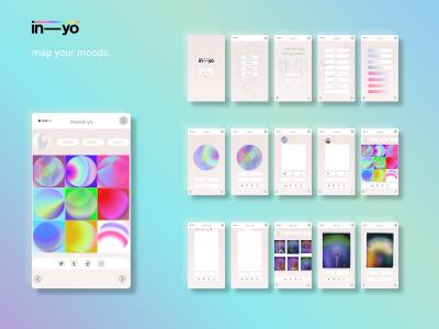 In-yo, mood mapping app. vector ux ui minimal logo graphic design figma design art app