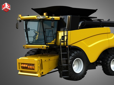 NH - CR 9070 Combine Harvester 3D model head corn part heavy industrial vehicle harvester combine 9070 cr newholland holland new