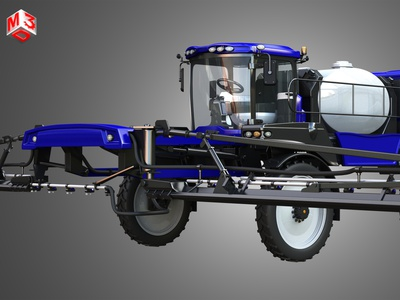 Self-propelled Front Boom Sprayer 3D model frontboomsprayers newholland part guardia sprayer boom front self propelled truck power vehicle tractor