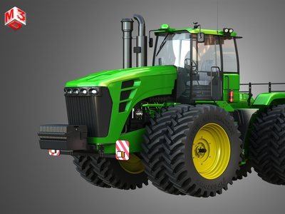 9230 Articulated Tractor 3D model part vehicle 6 cyl tractors machinery industry diesel tractor articulated 9230 deere john