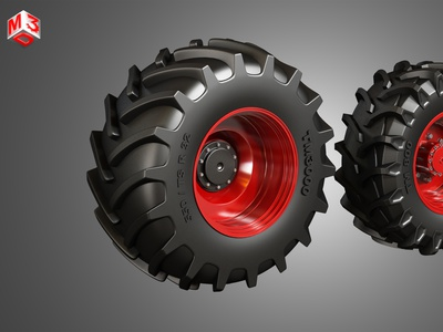 Tractor Tires and Rims - T02 tractor heavy wheels trailer semi large wheel duty meduim dayton alcoa trucks rims tires tyre rim tire part vehicle truck
