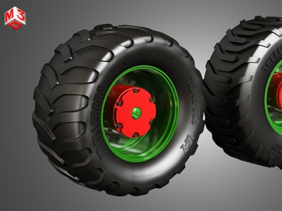 Truck Tires and Wheels-T05 tractor heavy wheels trailer semi large wheel duty meduim dayton alcoa trucks rims tires tyre rim tire part vehicle truck