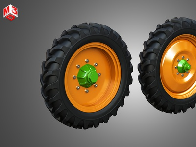 Tractor Tires and Rims - T08 tractor heavy wheels trailer semi large wheel duty meduim dayton alcoa trucks rims tires tyre rim tire part vehicle truck