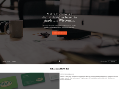 Portfolio Redesign orange earth tones personal redesign portfolio personal site