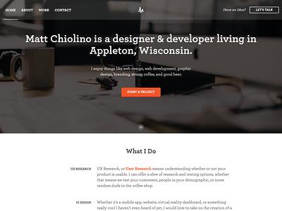 Personal Site Launch landing page freelance website redesign portfolio