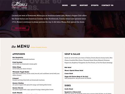 Mamas wordpress one page food restaurant supper club