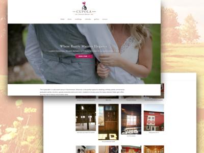 Cupola Barn wisconsin rustic barn venue wedding website wedding
