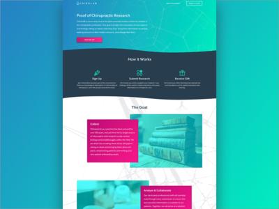 Landing Page Design alternative medicine wellness health chiropractor chiropractic landing page