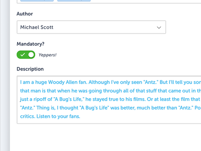 Yeppers the office antz toggle ui yeppers michael scott