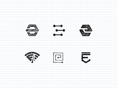 WIP App Icons e logo e icon sketch hexagon shield logbook speedometer icon app logo e