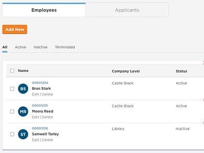 Employees and Applicants game of thrones saas app enterprise ux fleet management app redesign ui branding