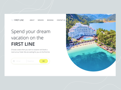 Summer Holiday | Hotel Reservation landing design beach sea website webdesign booking summer figma concept uxui interface uidesign graphic design ui