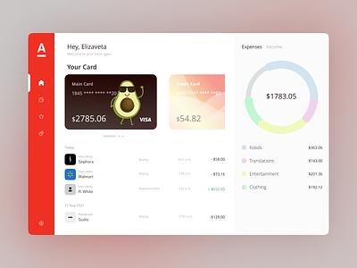 Bank Dashboard   Alfa Bank dashboard uiux money bank credit card credit figma ui concept uxui interface design uidesign
