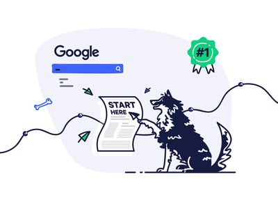 A Marketing Dog dog ecommerce illustration doodle drawing advertising marketing e-commerce