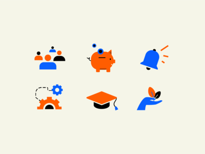 Icons colors vector character illustration branding design flat illo
