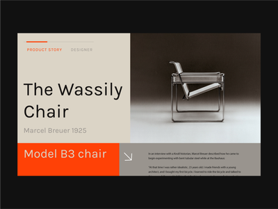 Shop | Wassily Chair website interface design ux typography interface ui design