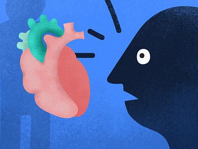 Piggy Organ Bank illustration transplatation heart organs