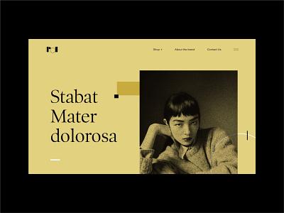 Stabat Mater Dolorosa webdesig web layoutdesign editorial layout editorial design design ui