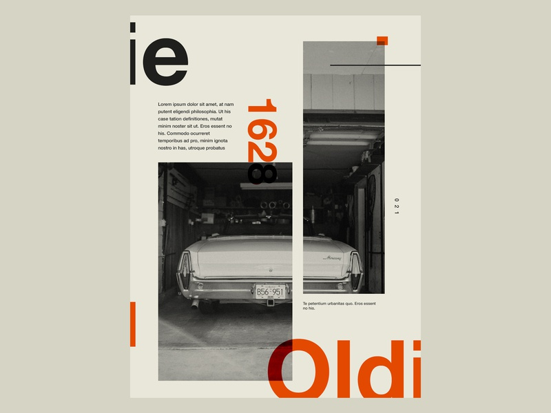 The Oldie classic cars design poster design layoutdesign editorial layout classic car car poster