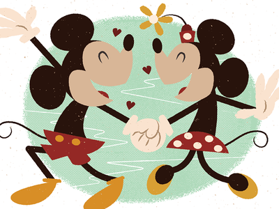 More Mousin' mickey mouse minnie mouse texture love dancing