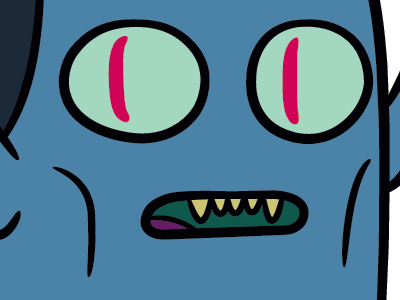 Why'd you steal those fries? adventure time hunson abadeer vector inks