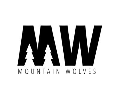Mountain Wolves Logo logo branding design branding nature typography logos logo logo design